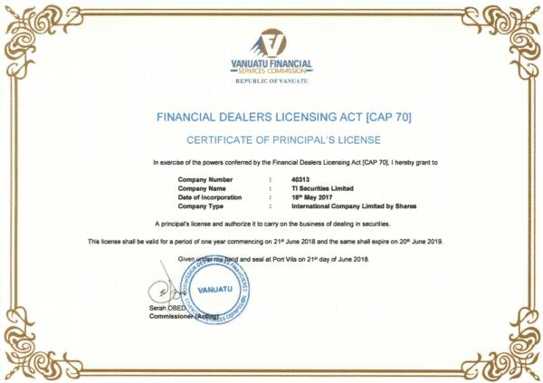 金融ライセンス CAP.70
