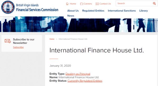 英領ヴァージン諸島の金融ライセンス