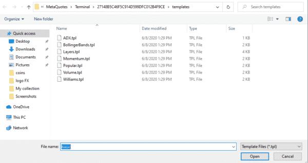 4.設定するファイルを選択する