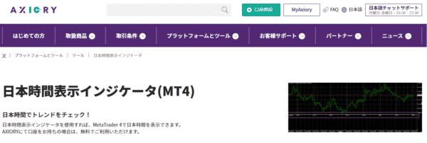 日本時間表示インジケーター