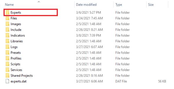 2.MT4・MT5のデータフォルダを開く