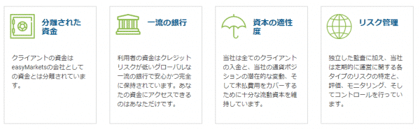 easyMarketsの資産保全(分別管理・信託保全)
