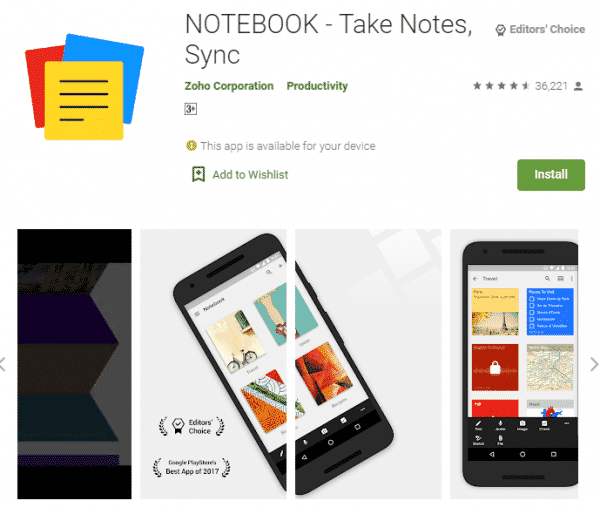 Notebookアプリ(無料)