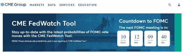 「Fed Watch Tool」のFOMCカウントダウン